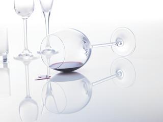 Weinglas auf Abwegen