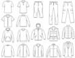 Men's clothes illustration