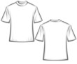Blank T-shirts vector illustration - front and back