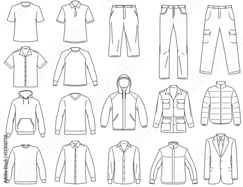 Men's clothes illustration - 13006758