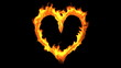 Fire Heart + Alpha Channel. CG.