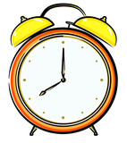 Alarm clock. Vector illustration