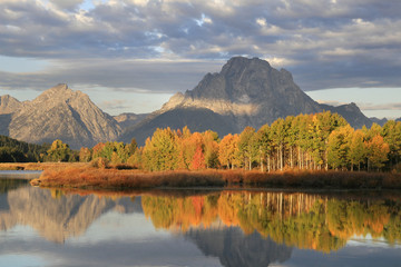 Mt. Moran and Fall Sunrise