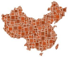 Mappa a mosaico della Cina