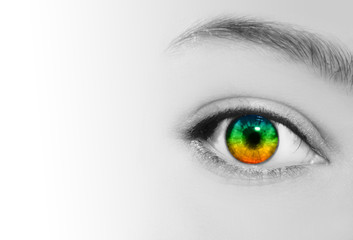 Rainbow Eye Vision Perspective