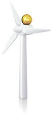 Investissement dans l'éolien (reflet)