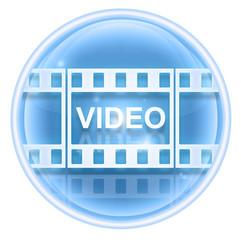 Film icon ice, isolated on white background.