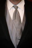 shirt, tie, tux, silver poster