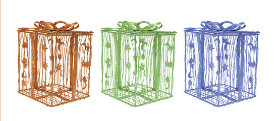 Wire Gift Boxes