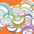 Abstract seamless spirals pattern, vector illustration