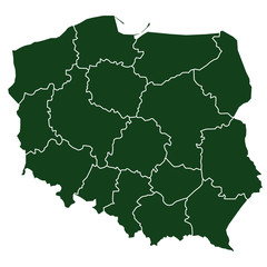 vector map of poland