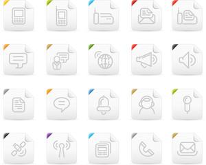 Squaro icon set: Communication