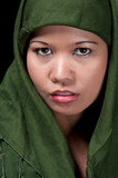 Asiatic Muslim Woman poster