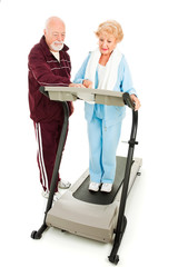 Seniors Exercise Together