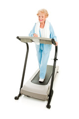 Healthy Senior Works Out
