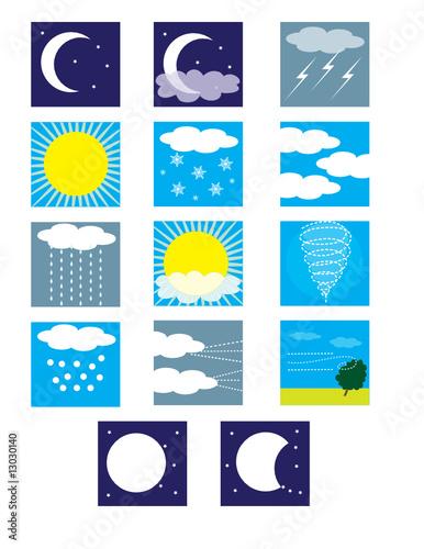 weather symbols snow. Weather Symbols
