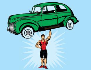 Bodybuilder strong