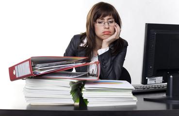 viel zu tun im büro