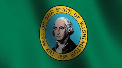 Seamless loop of the Washington state flag