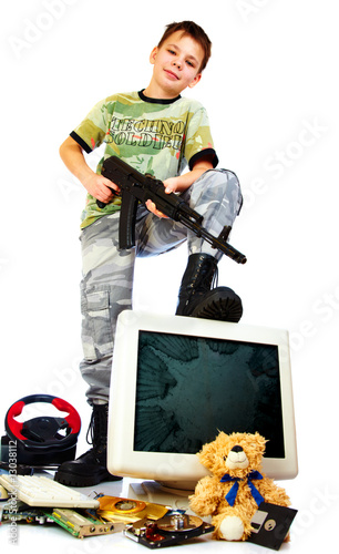 poster of Cruelty in computer and video games