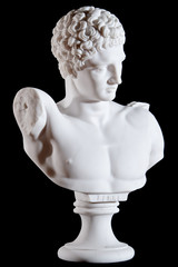 white marble bust of statue Hermes and the Infant Dionysus