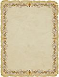 Pergamena Cornice-Parchemin Cadre-Parchment Frame poster