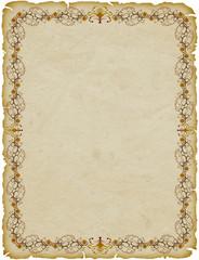 Pergamena Cornice-Parchemin Cadre-Parchment Frame