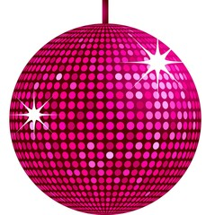 sparkling pink disco ball