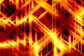 Hot fiery chaos - digital animation