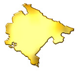 Montenegro 3d Golden Map poster
