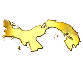 Panama 3d Golden Map