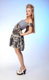beautiful european blonde model poster