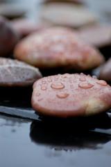 Steine im Regen