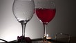 Two glasses with wine