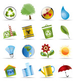 Realistic Icon - Ecology - Set for Web Applications - Vector poster