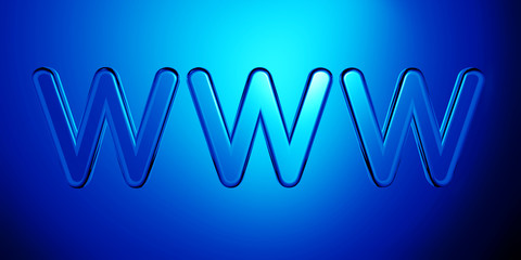 Elegant world wide web Internet symbol illustration