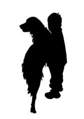 bambino con cane (vettoriale)