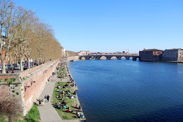Les berges de la Garonne