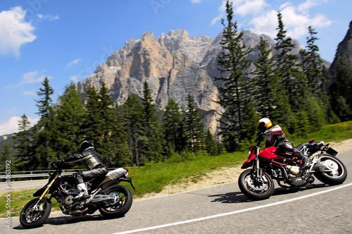 Leinwandbild Motiv 2 bikers