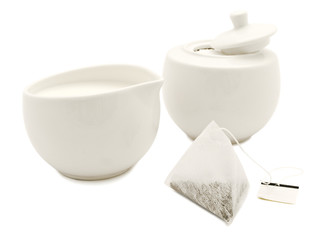 white modern tea-set