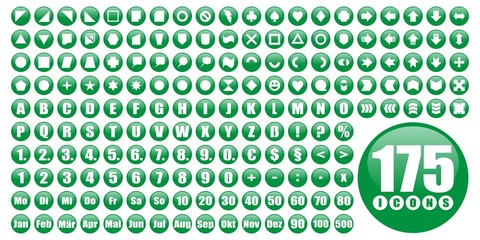 175 runde icons - grün