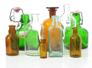 Flaschen als Recycling-Glas/bottles for recycling