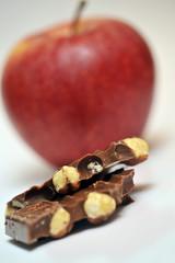 Apfel oder Schokolade