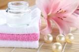 handtücher badeperlen lilie