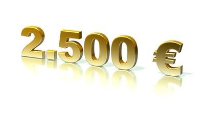 2500 Euro