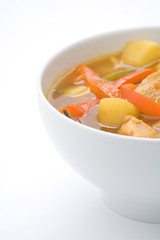 Chinese chicken soup chicken and vegetables