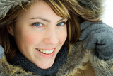 Fototapety Smiling woman in winter