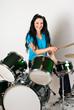 Smiling drummer