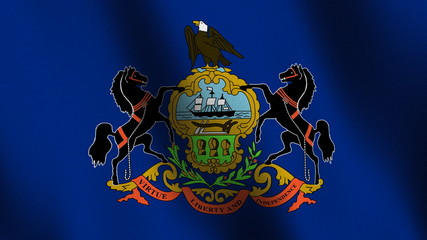 Seamless loop of the Pennsylvania state flag