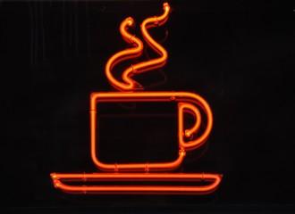 Leuchtreklame Kaffee